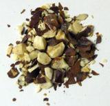 Rosskastanienfrüchte geschnitten